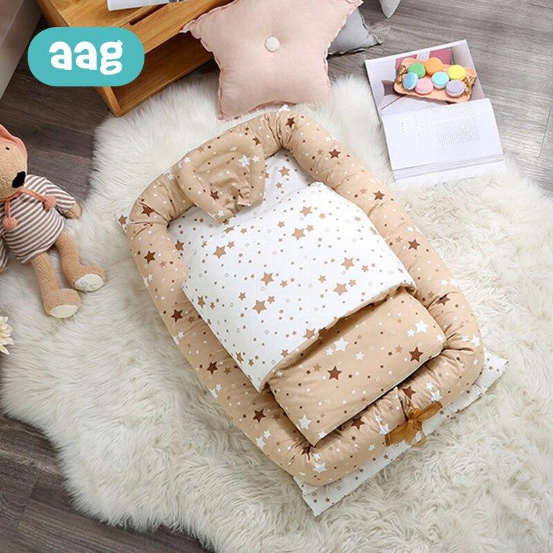 AAG bébé lit de lit Portable lit de couchage coton infantile bébé nid lit de voyage pliable lavable nouveau-né matelas enfant berceau lit
