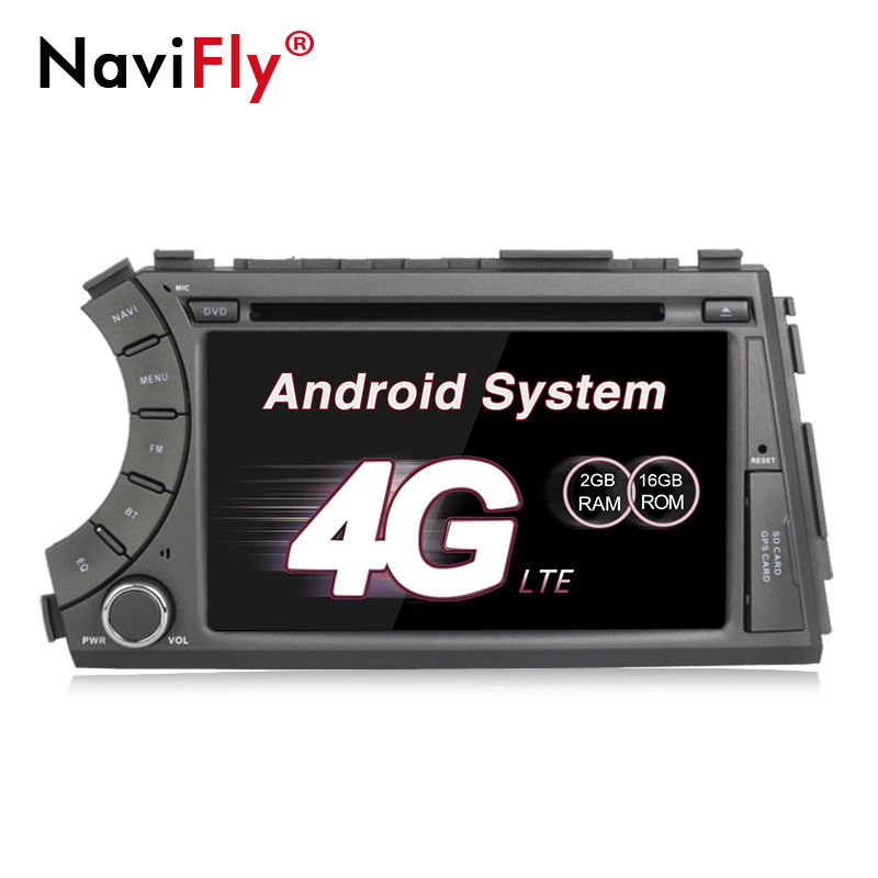 4G SIM LTE Android 7 1 Quad Core car dvd gps player for ssangyong Kyron