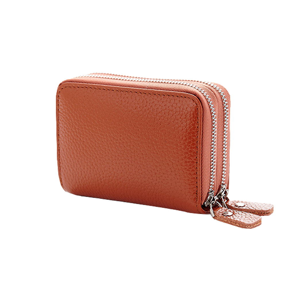 New Coin Wallet Coin Pouch Solid Girls Purse Wallet Girl Womens Leather Secure Spacious Cute girl bag Double zipper Wallet