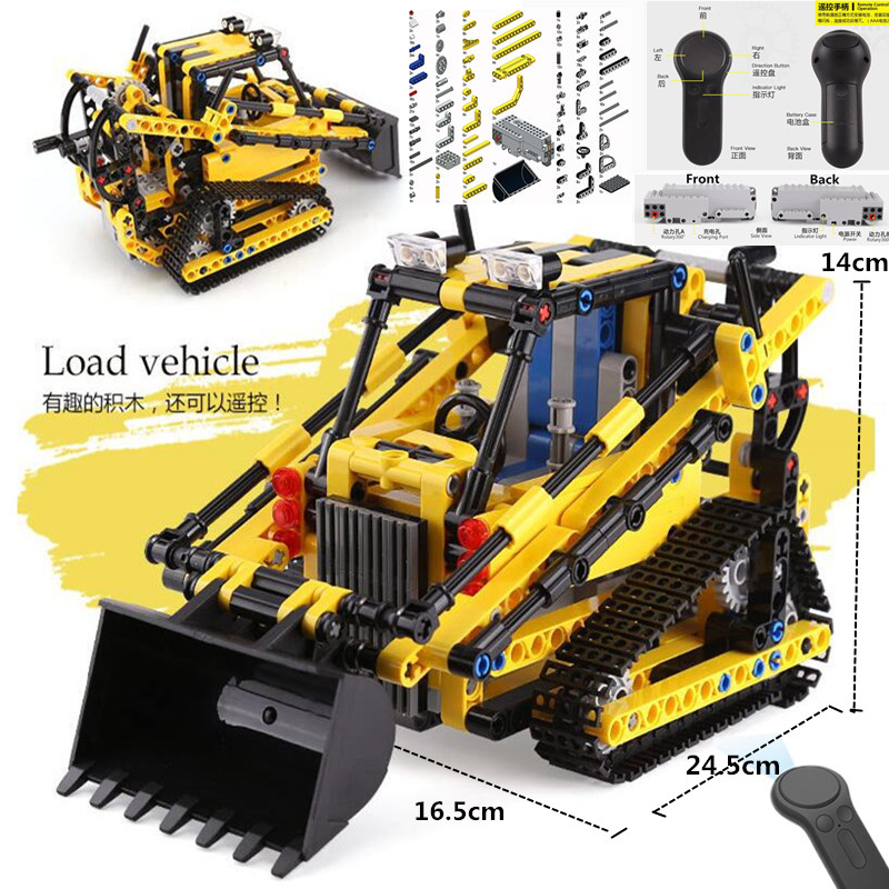 Technic Engineering Series The Load Car Set Building Blocks Remote Control Car Toys for children Gift Compatible With L Brand