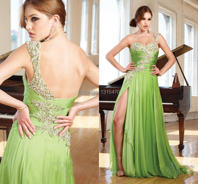 91e8864111930 Popular Design One Shoulder Prom Dress Long party Formals Gown Vestidos De  Festas 2016 split Longo-in Prom Dresses from Weddings & Events on ...