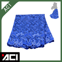 ACI-New Arrival Ankara Lace Fabric With Beautiful Embroidered Fabric 6 Yards/Piece For Cloth Dressing