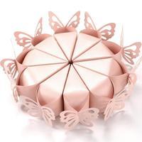 100 шт./компл. коробка конфет сумка шоколад Бумага подарочная коробка малая торт с бабочками и кружевом на день рождения свадьба бабочка круж...