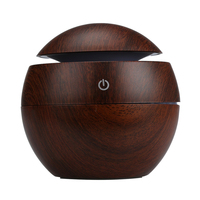 Top Grand Wood Grain Aromatherapy Essential Oil Diffuser LED Lights Ultrasonic Cool Mist Aroma Air Humidifier