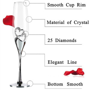 Image 5 - 2Pcs/Set Crystal Champagne Glass Wedding Toasting Flutes Drink Cup Party Marriage Wine Decoration Cups For Parties Gift Box