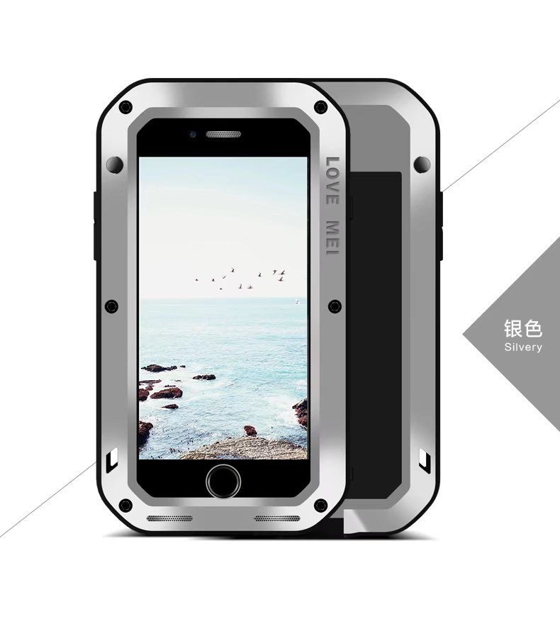 For Iphone8 Original LOVE MEI Extreme Powerful Life Waterproof Dropproof Metal Case For Apple Iphone 8