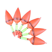 5pcs Ocean Rock Fishing Float Vertical Buoy Plastic Fishing Float Hard Tail Float Set Fishing Tackle Fishing Accessories 14x4cm
