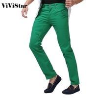 Männer Jeans Solide Candy Farbe 2017 Neue Frühling Sommer Herbst Mode Lässig Marke Calca Jeans F0640-in Jeans aus Herrenbekleidung bei