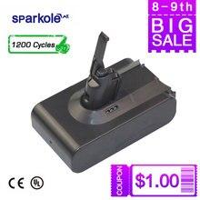 [1200 циклов] SPARKOLE 21,6 В 3.2Ah литий-ионный Батарея для Dyson V8 серии V8 абсолютное, с японскими импортные клетки 100% натуральная Ёмкость