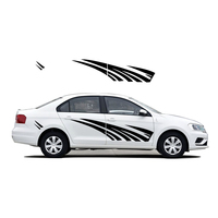 For VW for Volkswagen Jetta Car Styling Car Exterior Stickers Car Scratches Cover Sticker Creative DIY Car Body Decal PVC 2Pcs
