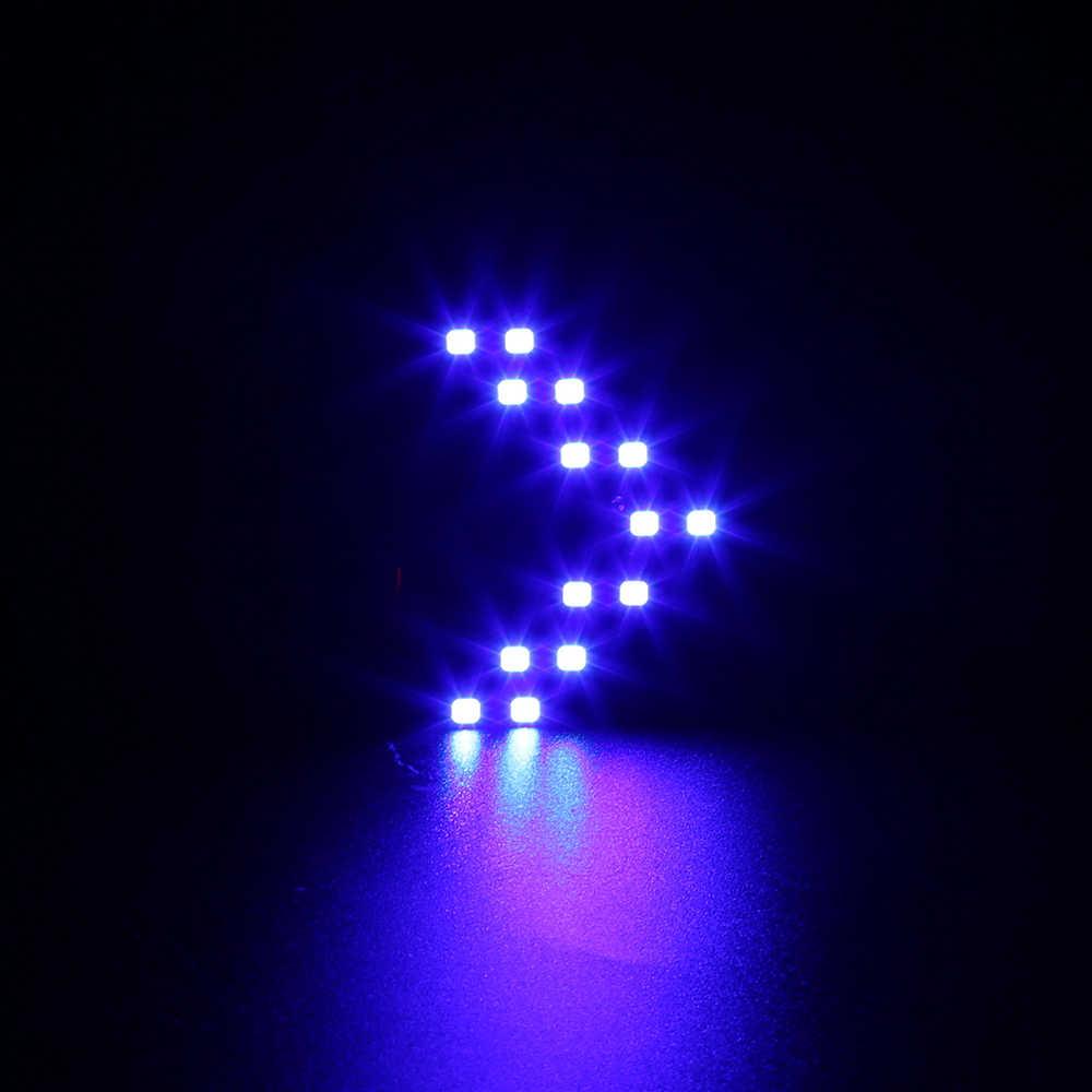1 ピースユニバーサル Led ターンインジケータサイドミラー光源矢印 Smd LED パネル黄色のターニング信号光ランプ