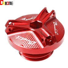 Motorcycle M20*2.5 Engine Oil Filter Cup Plug Cover Screw moto accessories for Suzuki GSF 600 650 Bandit S GSF 1200 1250 Bandit