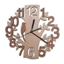 Wooden font b Wall b font font b Clocks b font Tree Shape Silence Creative font