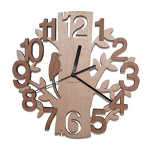 Wooden Wall Clocks Tree Shape Silence Creative Clock for Living Room Wall Clock Decoration for Kitchen Room