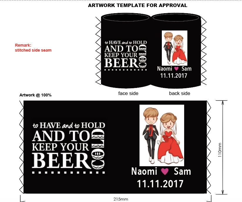 Hot Sale Neoprene Stubby holders Customized LOGO Printed Beer Can Coolers Personalized Printing For Wedding Gift