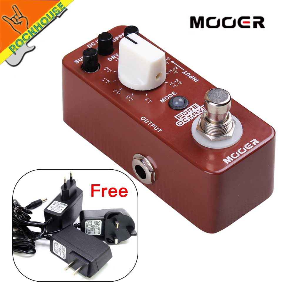 MOOER Pure Octave Guitar Pedal 11 Octave models Nice Church Music Tone True Bypass Free Shipping dedo music gifts mg 308 pure handmade rotating guitar music box blue