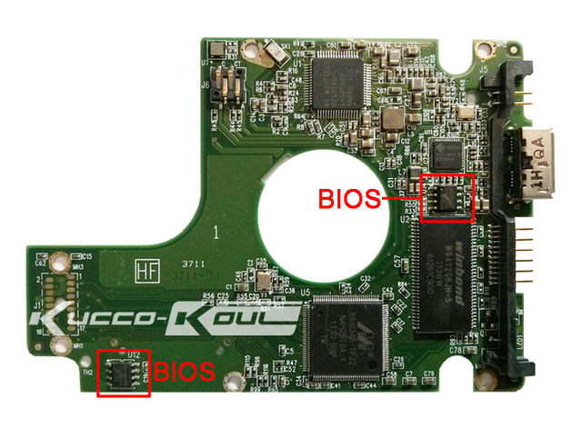 free shipping HDD PCB logic board 2060-771801-002 REV A/P1 for WD 2.5 USB hard drive repair data recovery