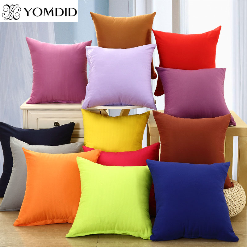 Buy solid color cushion cover sofa soft - Forro para sofa ...
