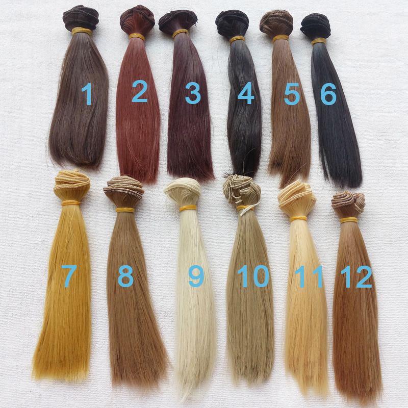 1PCS Retail Doll Accessories Synthetic Dolls Hair 15CM BJD Wig Doll DIY 1 8 bjd sd doll wigs for lati dolls 15cm high temperature wire long curly synthetic hair for dolls accessorries high quality wig