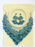 New Top Quality Africa Wedding Jewelry Sets Full Austrian Crystal Flower Necklace Earrings For Women
