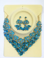 Nueva Calidad Superior de África joyería de la Boda Establece Aretes Collar de la Flor de Cristal Austriaco Completa Para Las Mujeres Sistemas de La Joyería Nupcial XNG006