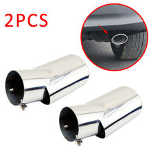 2pcs Tailpipe Cover Fit For Honda CRV CR-V 2017 2018 2019 Rear Muffler End Tail Exhaust pipe Tip Silencer Trim Stainless Steel цена в Москве и Питере