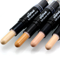 Popfeel Makeup Creamy Double-ended 2 in1 Contour Stick Contouring Highlighter Bronzer Create 3D Face Makeup Full Cover Concealer