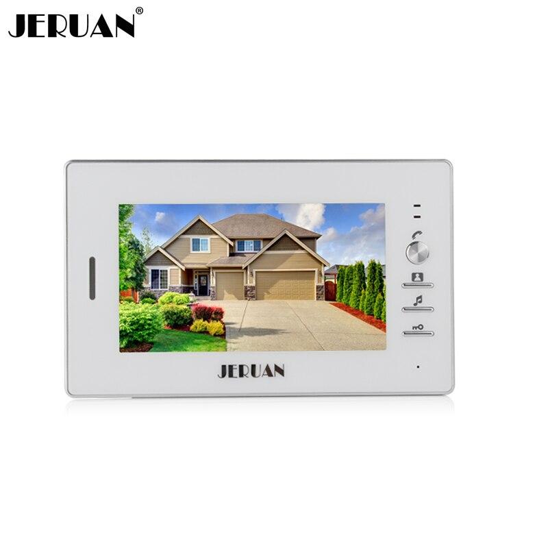 JERUAN 7 Inch Color  Video Door Phone Intercom System Only Monitor 720W Indoor + Power Adapter