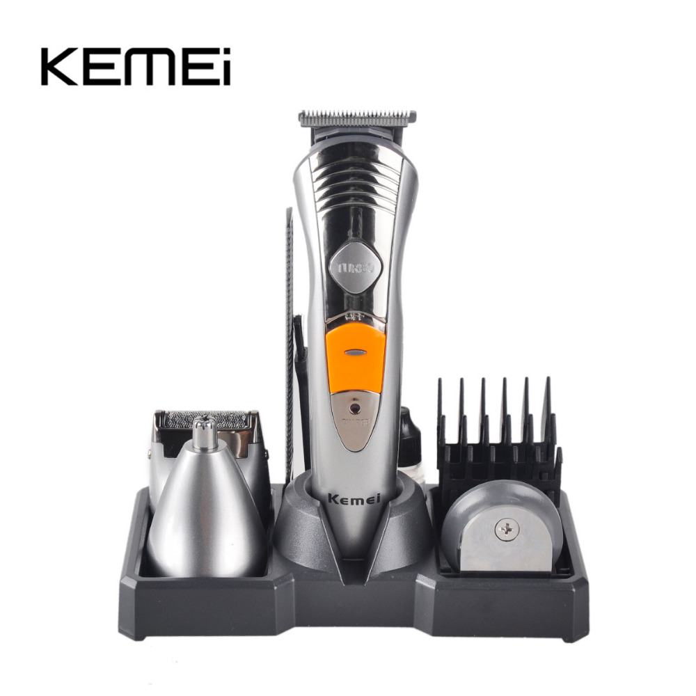 618910 580 1 KEMEI KM-580A 7 In 1 Professional Multinational Hair Clipper Razor Shaver Household Rechargeable Hair Cutting Machine