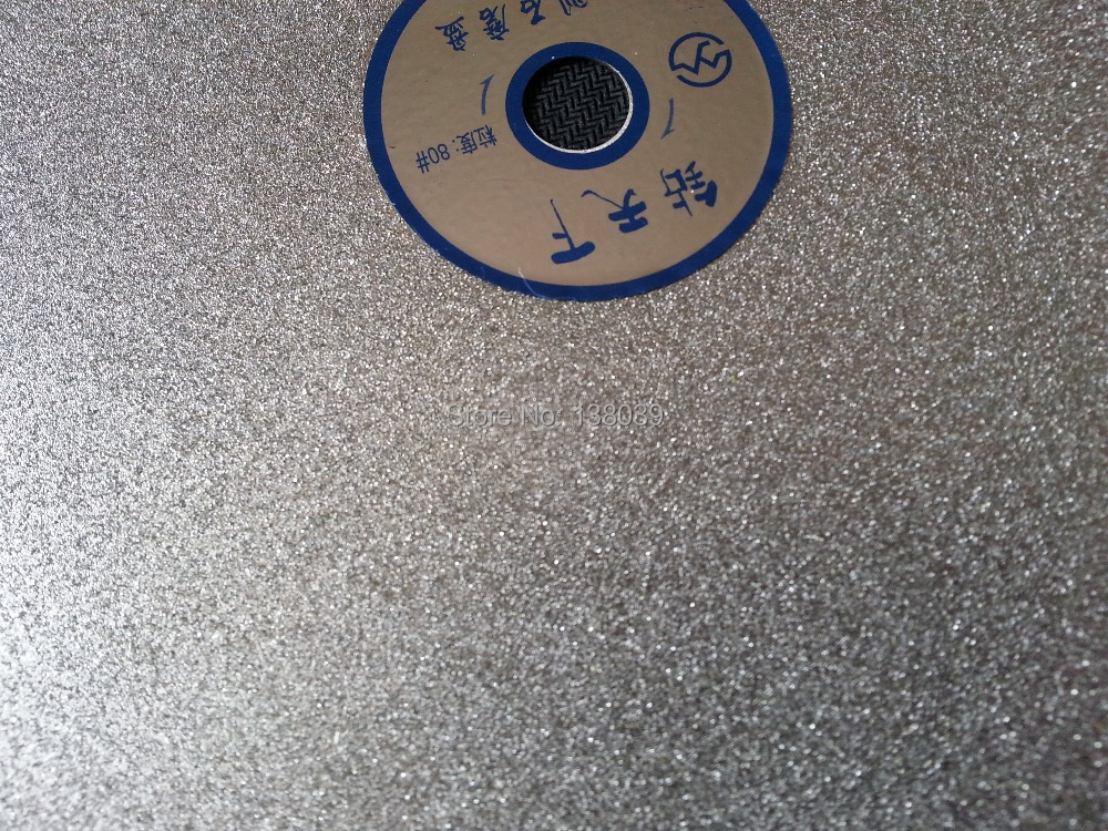 12 inch diamond  flat grinding discs for lapidary polishing discs for gemstone grit #80