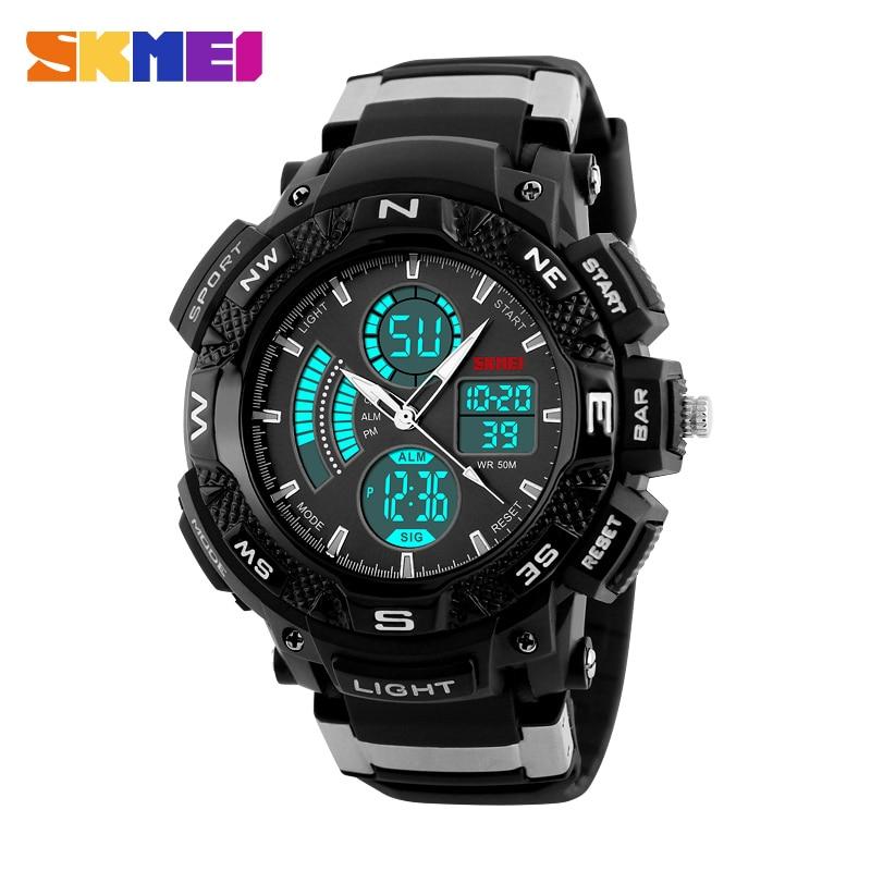 font b SKMEI b font 1211 Men s Digital Quartz Watch Fashion Dial Dual Time