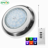 LED Swimming Pool Light RGB Surface Mounted Underwater Lights IP68 AC12V Stainless Steel Fountain Lamp Spa Pond Lamps