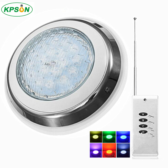 US $78.98 38% OFF|LED Swimming Pool Light RGB Surface Mounted Underwater  Lights IP68 AC12V Stainless Steel Fountain Lamp Spa Pond Lamps -in LED ...