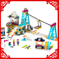 632Pcs Building Block Toys Friends Snow Resort Ski Lift Model LEPIN 01042 Brinquedos Gift For Children