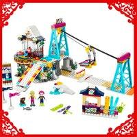 632Pcs Building Block Toys Friends Snow Resort Ski Lift Model LEPIN 01042 Brinquedos Gift For Children