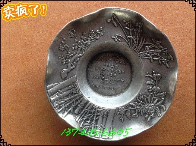 Jingdezhen-plats en argent | Antiquités collection d'ornements, paktong Merlin kikutake four à Jingdezhen