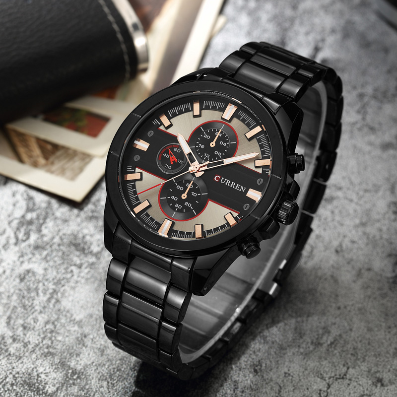 <font><b>CURREN</b></font> Men Military Sports Watch Top Brand Luxury Fashion Casual Waterproof Wristwatch Steel Quartz Male Clock relogio masculino image