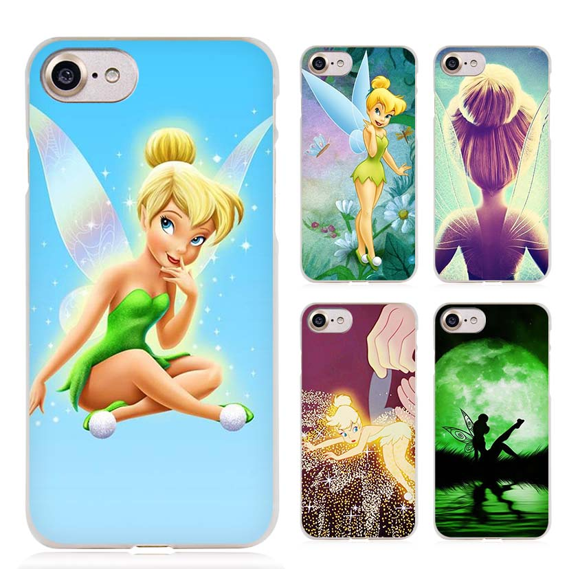Peter Pan Wendy Tinkerbell Clear Cell Phone Case Cover for Apple iPhone 4 4s 5 5s SE 5c 6 6s 7 Plus