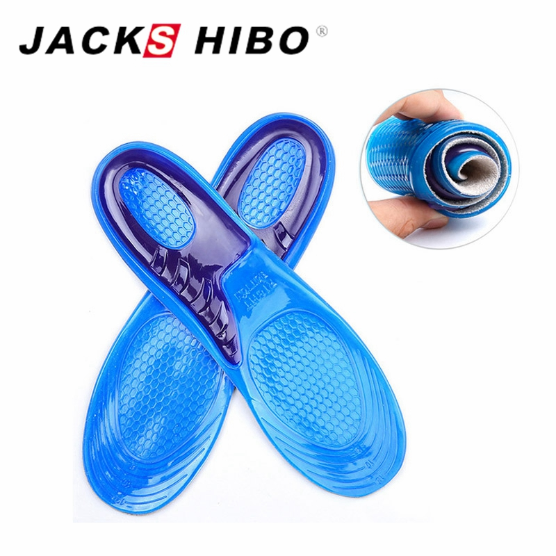 JACKSHIBO Large Size Unisex Gel Insoles Orthotic Arch Support Massaging Silicone Anti Slip Soft Comfortable Shoe Insole 1 Pair 1 pair support massaging silicone anti slip gel soft sport shoe insole pad for man women hot sale