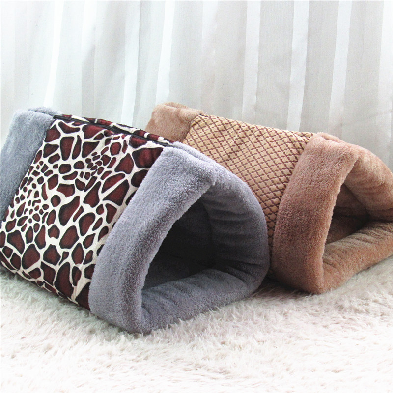 2 in 1 Multifunction Winter Warming Cute Cat Sleeping Cave Dog Kennel Pet Bed Puppy Mat Sofa Chihuahua Teddy Nest Pad ZL155-8