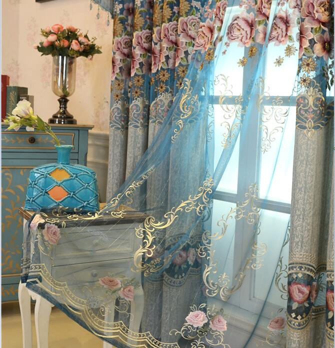 FYFUYOUFY европейски стил висок клас издълбани бродирани завеси хол спалня изящен жакард засенчване плат завеса