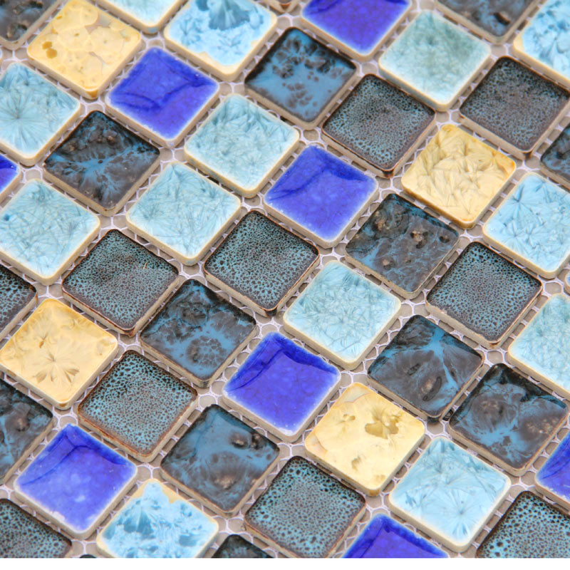 Vintage fashion ceramic mosaic tv background wall liners cladding tiles  blue color kitchen bathroom tiles. Online Buy Wholesale bathroom wall cladding from China bathroom