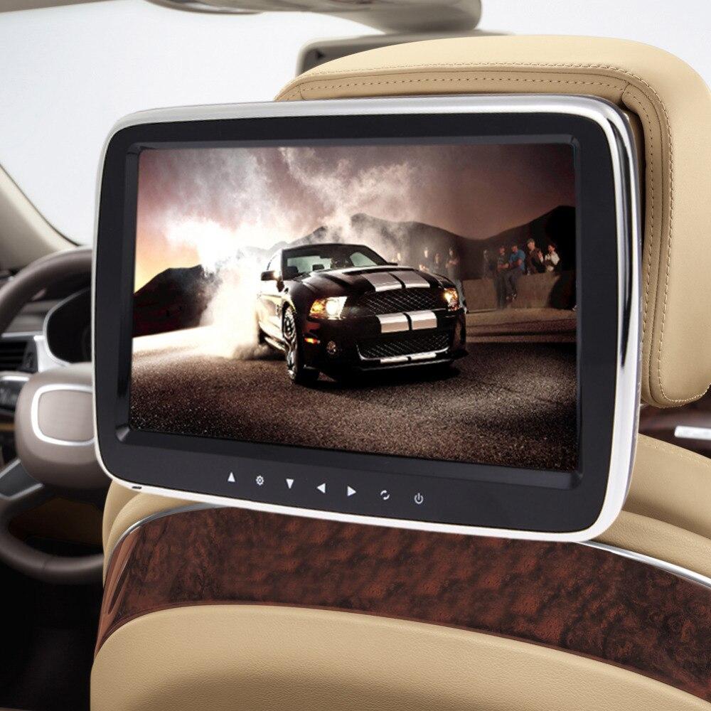 Pair 10 1 inch 1024 600 car headrest dvd player usb sd hdmi ir fm tft - 10 Digital Tft Lcd Screen Touch Button Car Headrest Monitor Dvd Mp5 Player 1024 600 1080p Video Autoradio Usb Sd Hdmi Fm
