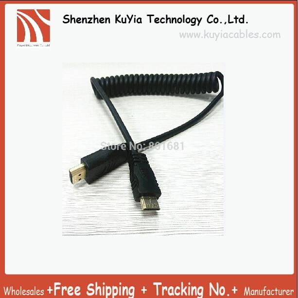 NEW!!! 1.5 М/5ft 10 шт. HDMI 1.4 Мужчина к Мини hdmi A/C гибкий Кабель HDMI стретч-hdmi FOR1080P телефон ноутбук кабель
