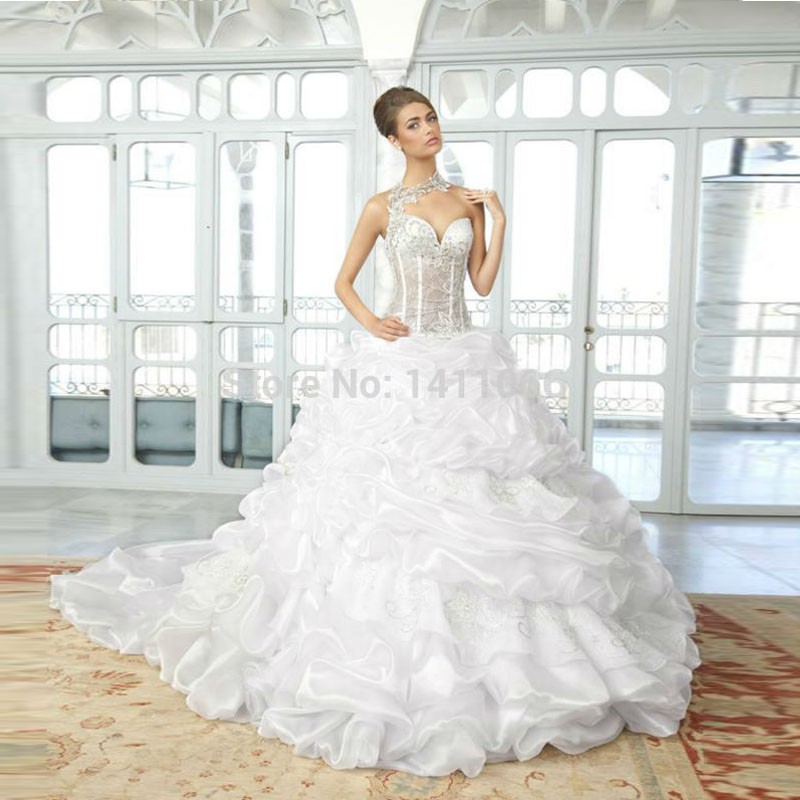 Amazing 2015 Sheer Backless Wedding Dresses Ball Gown