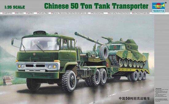 Theรูปแบบการชุมนุมของ1:35จีนทหารกองทัพ50ตันถังขนส่งกึ่งรถพ่วงรถบรรทุก00201