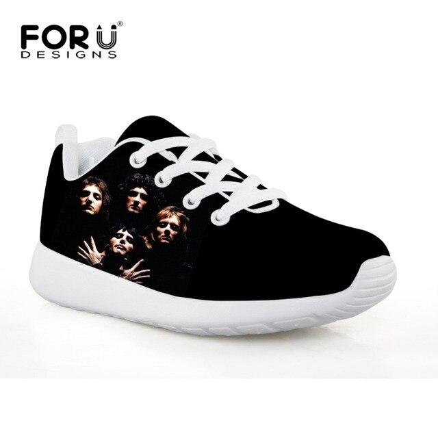 de1e841514cb FORUDESIGNS Children Sport Shoes for Boys Queen Band Bohemian Rhapsody  Printing Kids Soccer Shoes Flats Sneakers for Girls 2018