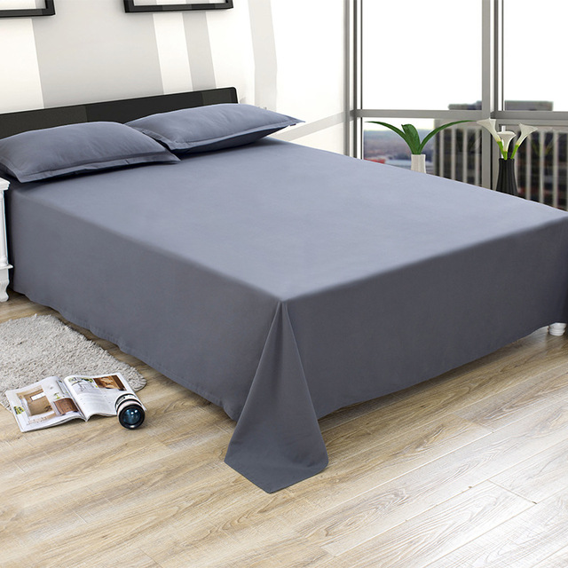 Earthing Bed Sheets Summer Bed Spread Bedspreads Microfiber Bed Flat Sheets Gray Bed Cover Sheet for Twin Full Queen King Size