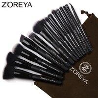 Zoreya Brand 15pcs Black Makeup Brushes Set Eyeshadow Powder Foundation Makeup Brush Kit 2017 New Arrive