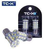 TC X 2pcs Pair P21W 1156 27 LEDs 5730 SMD 12V BA15S High Power Bright White